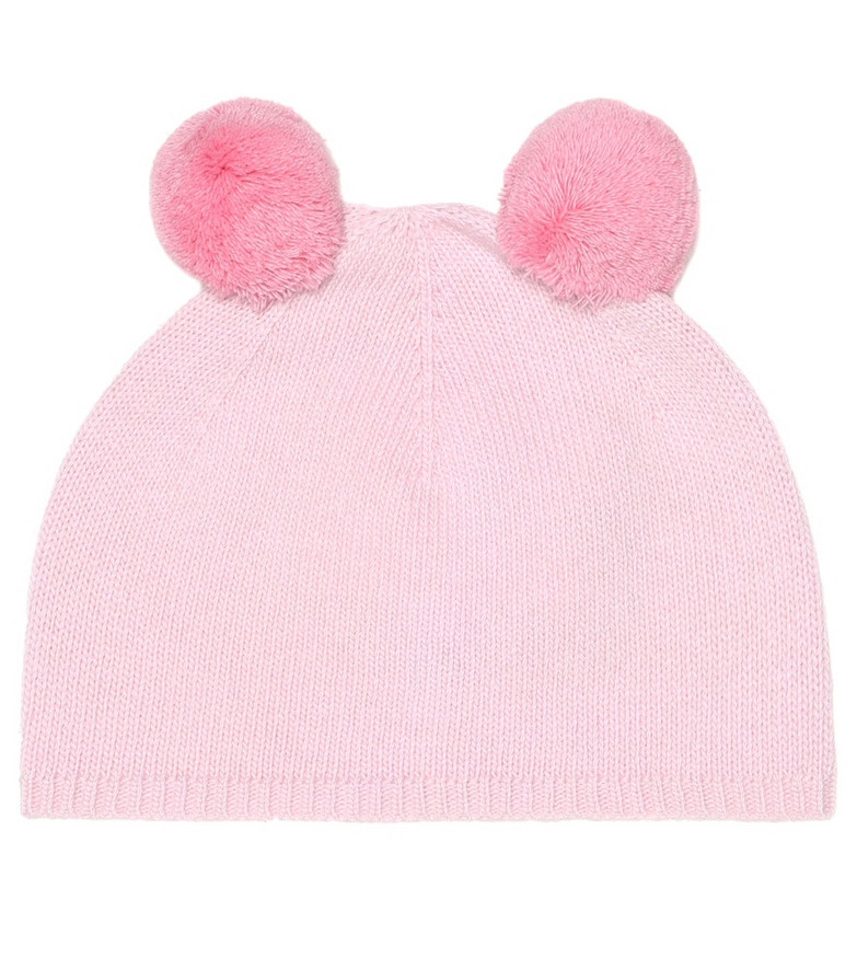 Il Gufo Pom pom-trimmed wool hat in pink