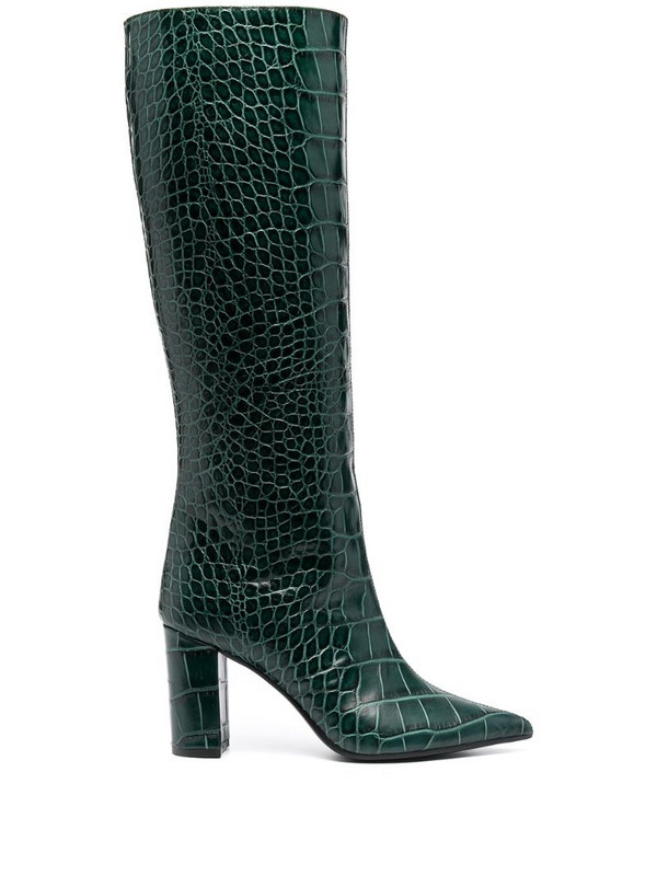 Giuliano Galiano Serena pointed boots in green