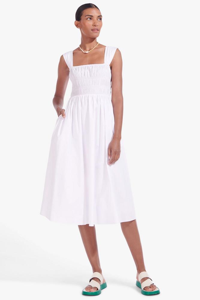 Staud IDA DRESS   WHITE