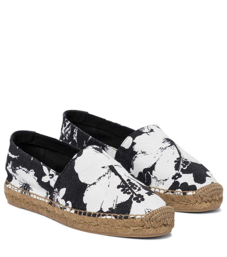 Saint Laurent Floral espadrilles in black