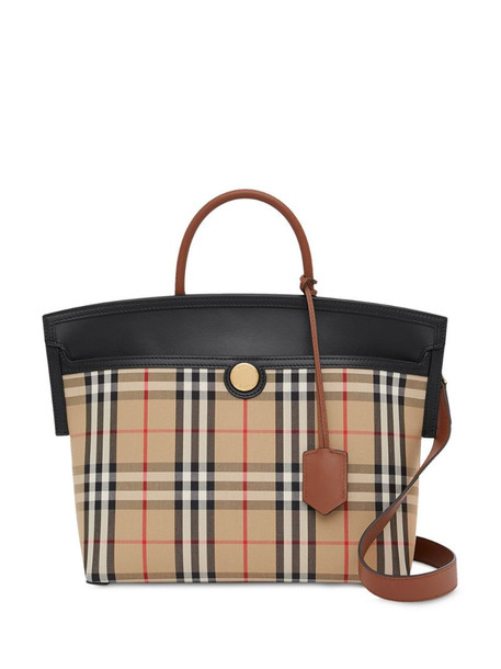 Burberry small Society Vintage Check top handle in neutrals