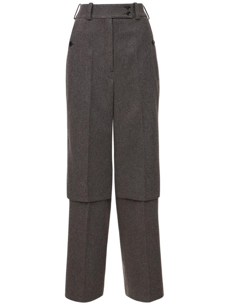 LEMAIRE Wool Gabardine Pants in grey