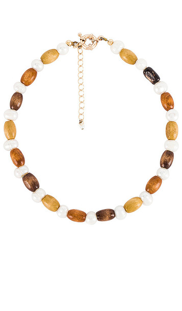 DONNI. DONNI. Wood Pearl Choker in Brown