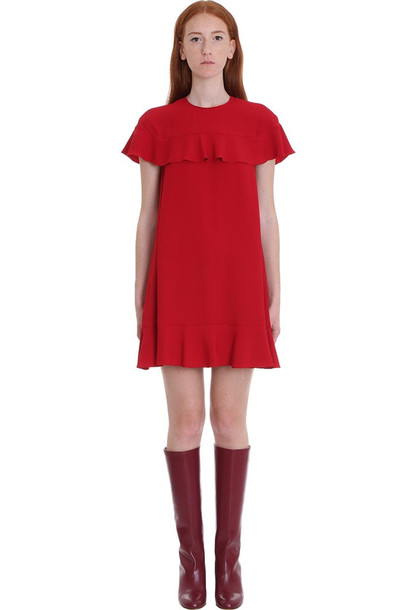 RED Valentino Dress In Red Silk