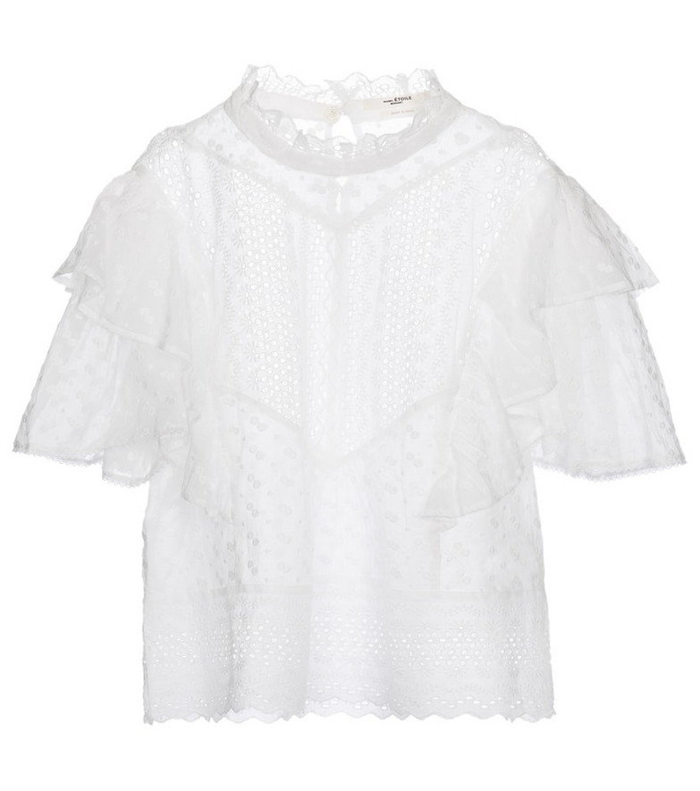 Isabel Marant, Étoile Tizaina broderie anglaise cotton top in white
