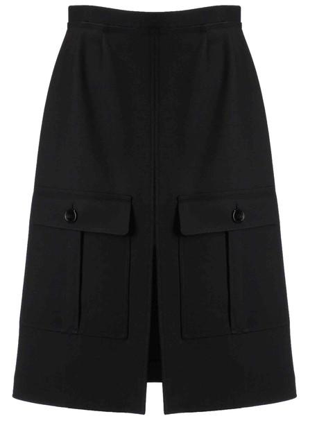 Chloé Chloé Front Slit Detail Skirt in black