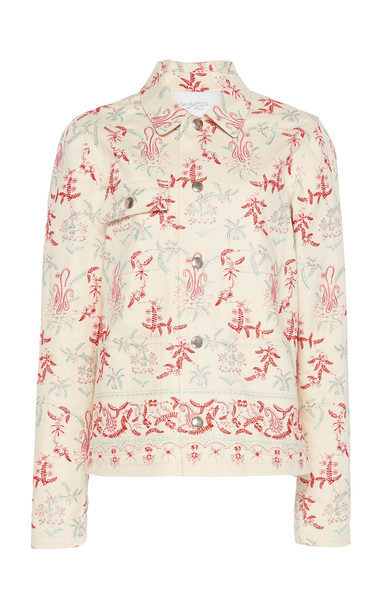 Giambattista Valli Embroidered Cotton-Blend Jacket in multi