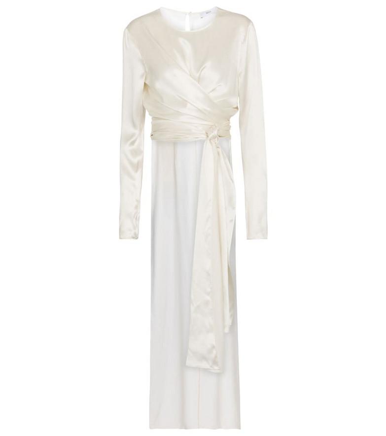 Safiyaa Bridal Silvanna silk satin top in white
