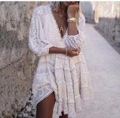 dress,lace dress,ivory dress,white dress