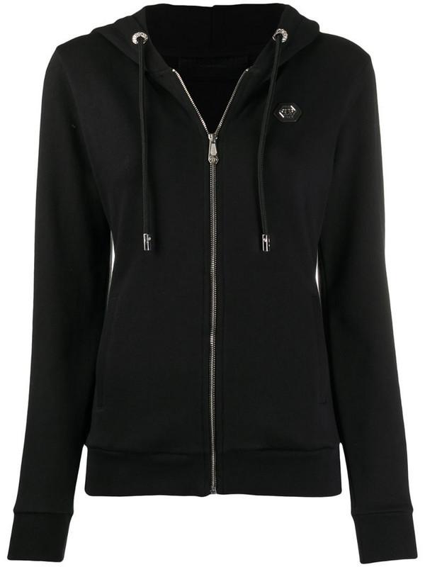 Philipp Plein classic skull hoodie in black
