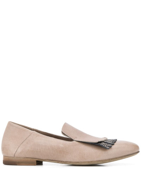 Officine Creative Lila glitter-fringed loafers in neutrals