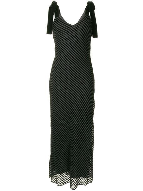 Dannijo striped sleeveless maxi dress in black