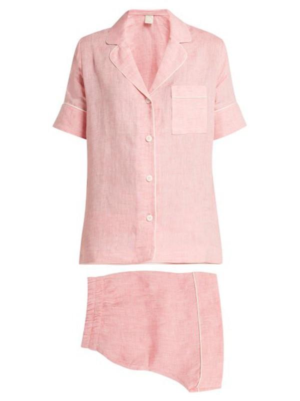 MORPHO + LUNA Morpho + Luna - Belma Linen Short Pyjamas - Womens - Pink