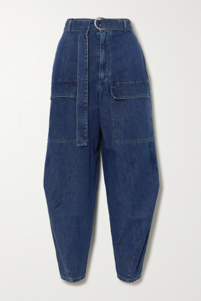 Stella McCartney - Net Sustain Belted High-rise Tapered Jeans - Blue