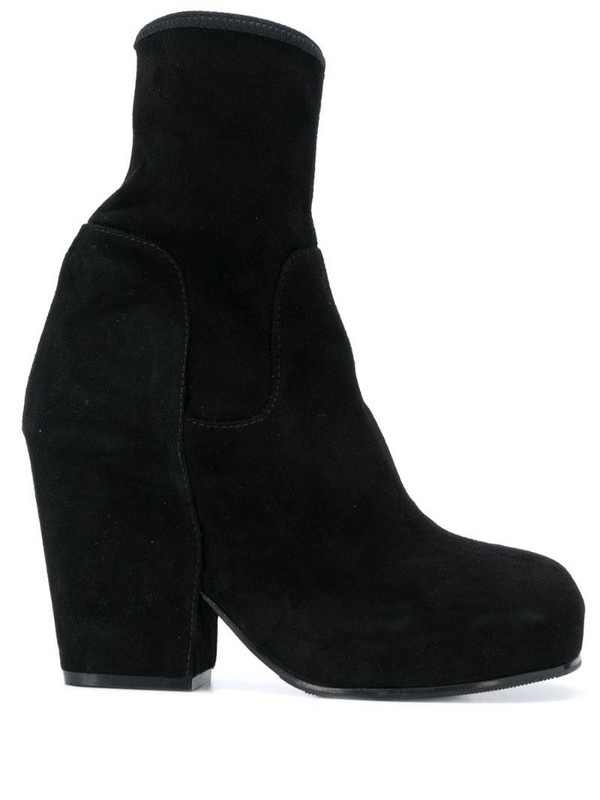 Random Identities ankle-length boots in black