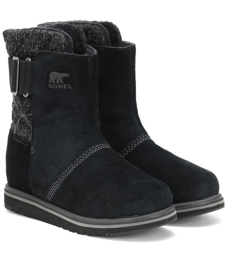 Sorel Rylee suede boots in black