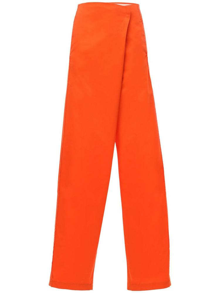 SUNNEI Stretch Workwear Wide Pants in orange