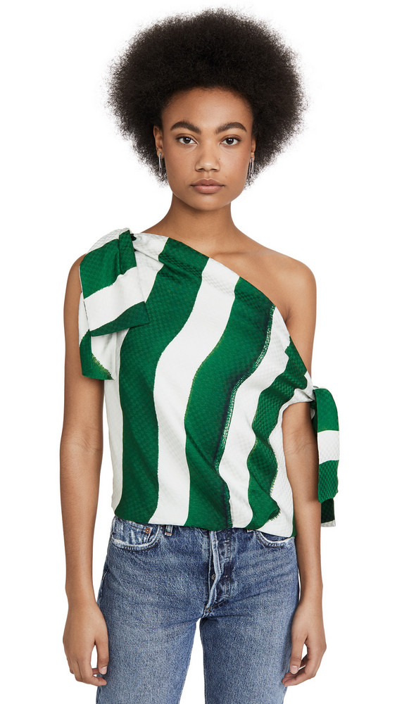 Hellessy Kiki Top in green / ecru