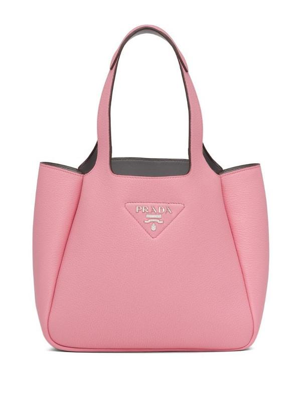 Prada calf leather tote bag in pink