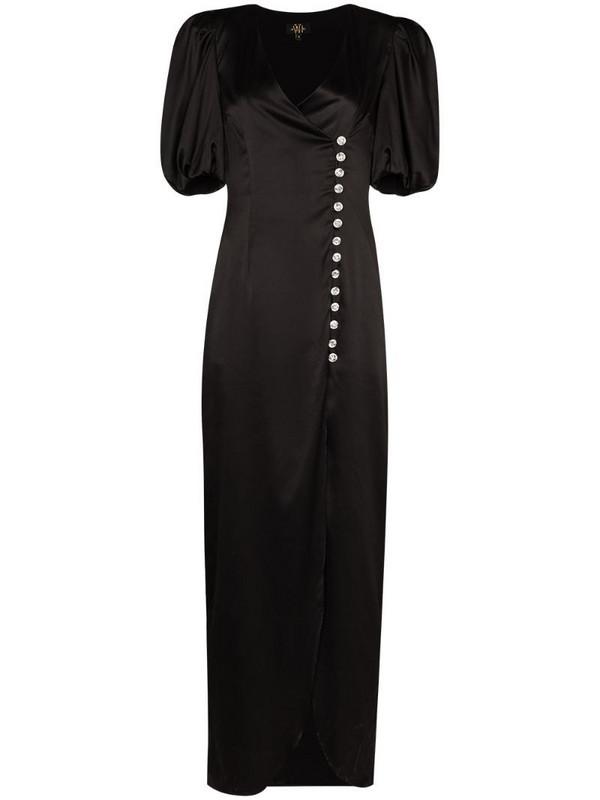De La Vali Ohio puff sleeve dress in black