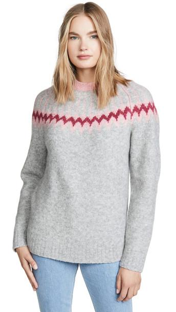 Jason Wu Fair Isle Crew Sweater in multi