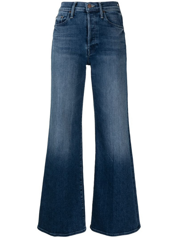 MOTHER Tomcat flared jeans in blue