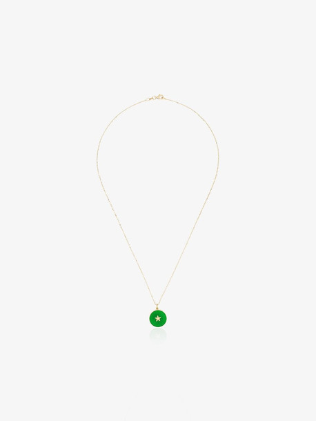 Andrea Fohrman 18K yellow gold diamond star pendant necklace
