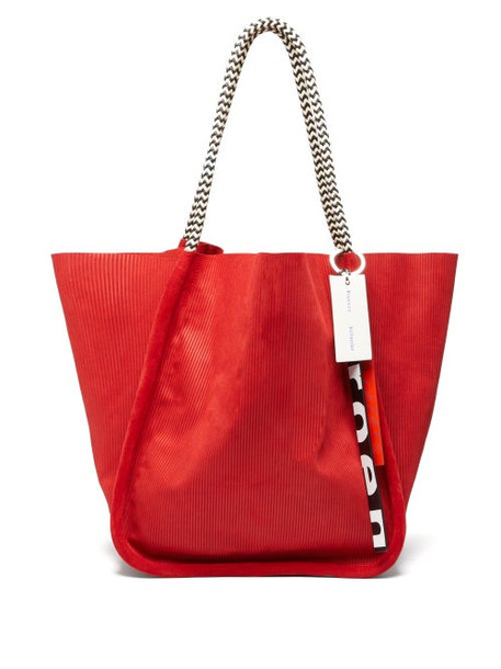 Proenza Schouler - Large Embossed Suede Tote Bag - Womens - Red