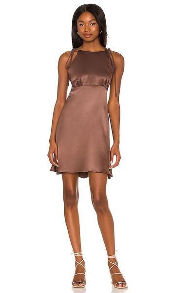 LPA Carlita Dress in Chocolate in brown