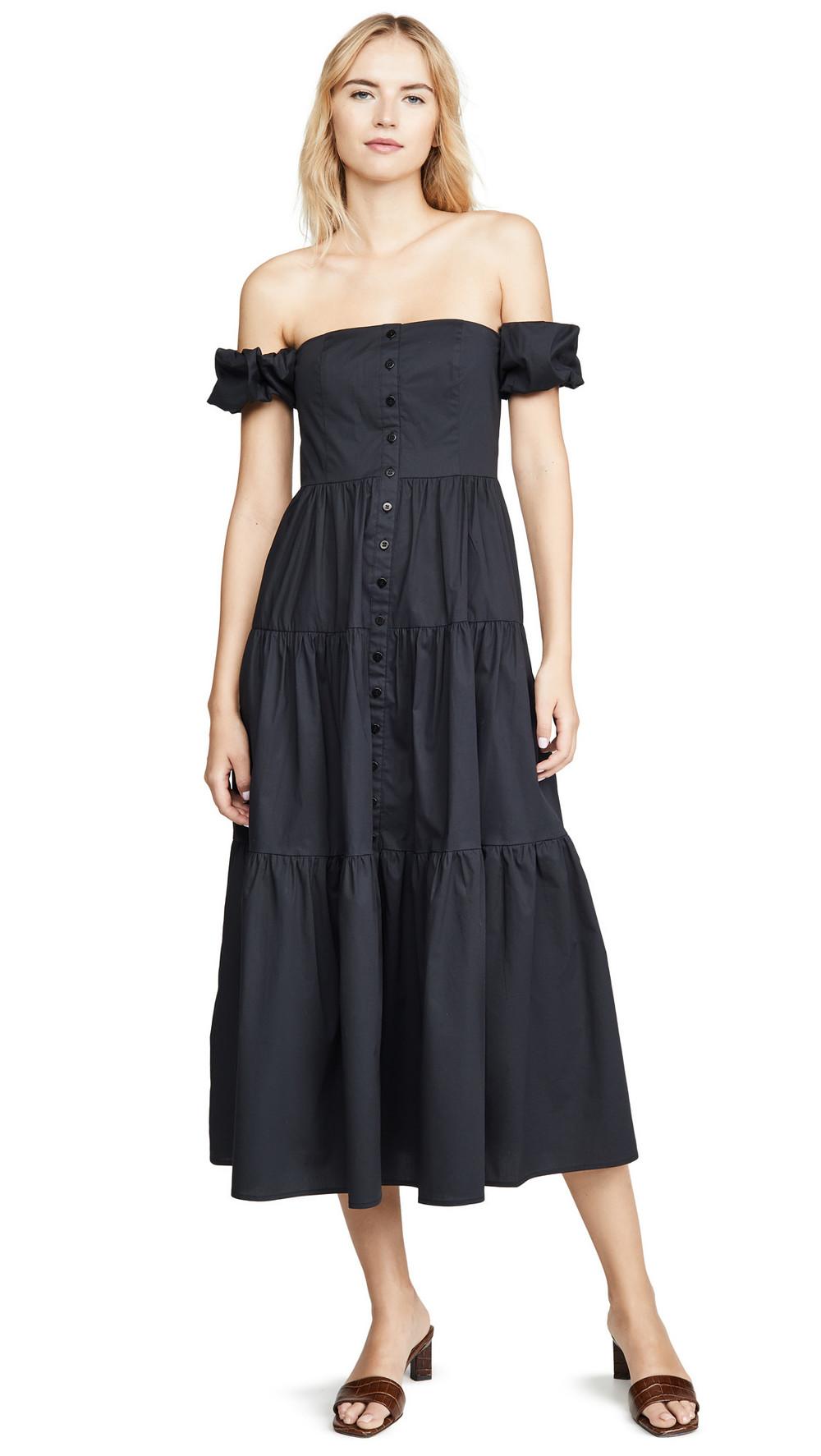 STAUD Elio Dress in black
