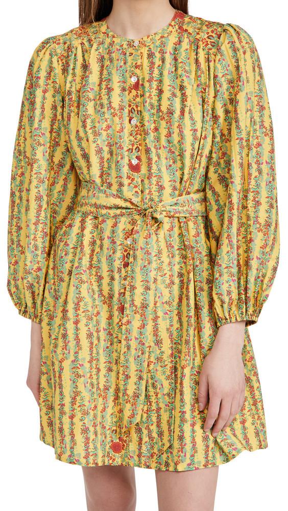 Roller Rabbit Rhody Stripe Evita Dress in yellow