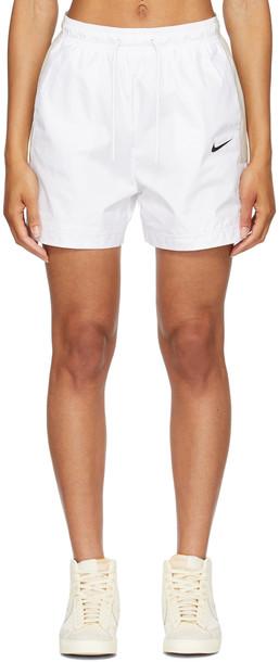 Nike White & Beige Sportswear Shorts