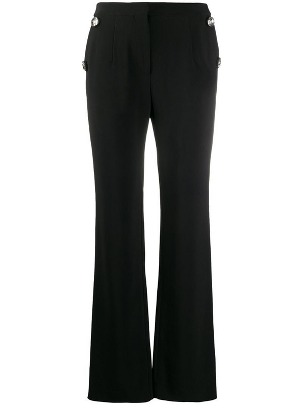 Christopher Kane crystal tailored trousers in black