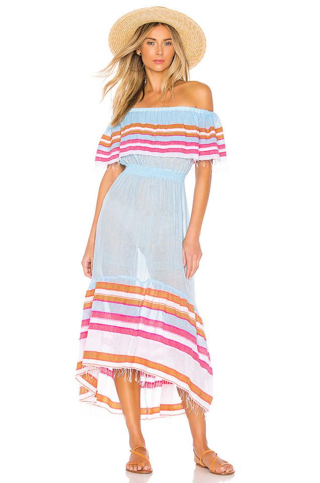 Lemlem Eskedar Beach Dress in blue