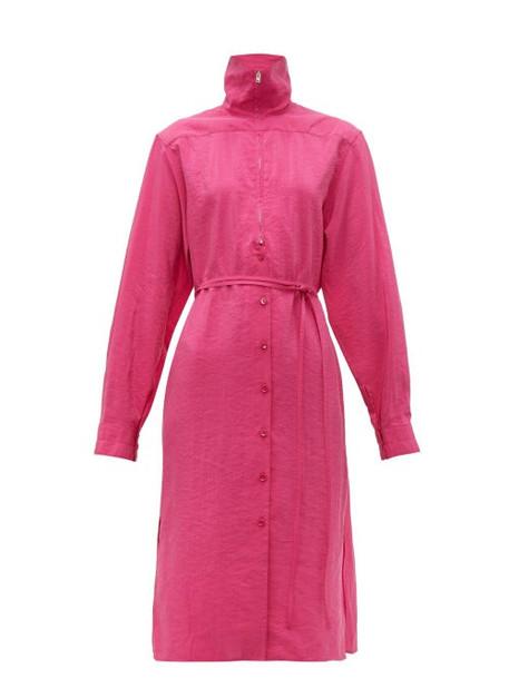 Lemaire - Zipped Silk Blend Dress - Womens - Pink