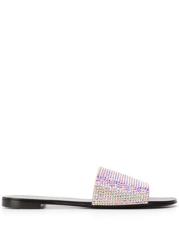 Giuseppe Zanotti Adelia crystal-embellished sandals in pink