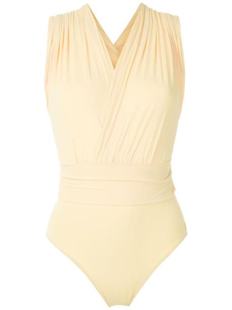 Brigitte Talita V-neck swimsuit in yellow