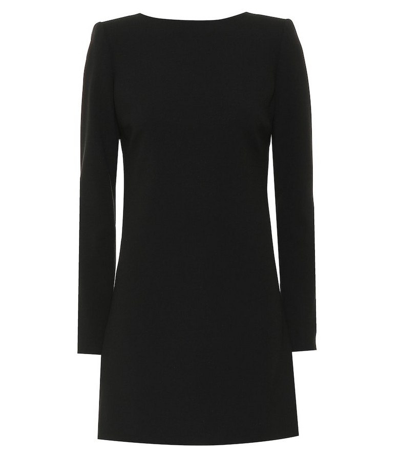 Saint Laurent Crêpe minidress in black