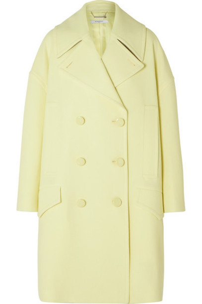 Givenchy - Double-breasted Wool Coat - Yellow