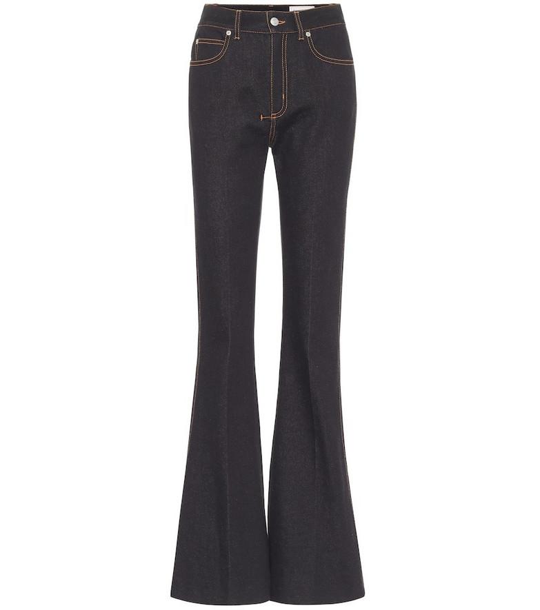 Alexander McQueen High-rise bootcut jeans in black