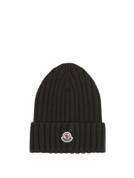 Moncler - Logo-patch Merino-wool Beanie - Womens - Khaki
