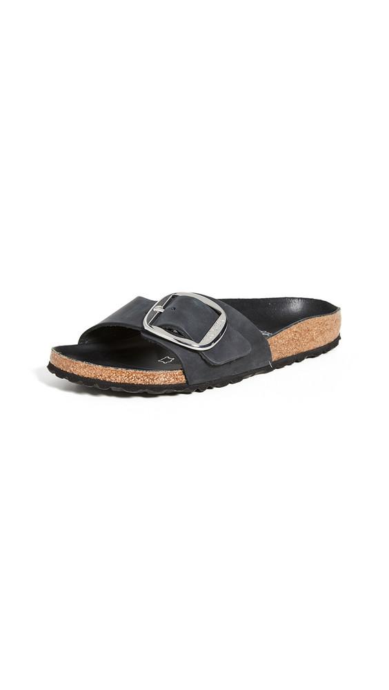 Birkenstock Madrid Big Buckle Sandals - Narrow in black
