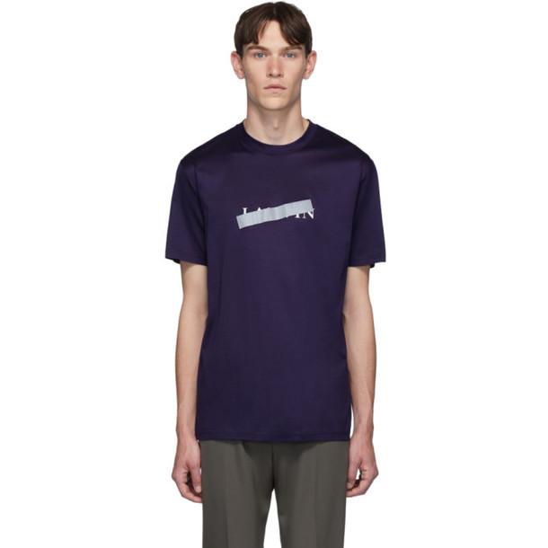 Lanvin Blue Bar Logo T-Shirt