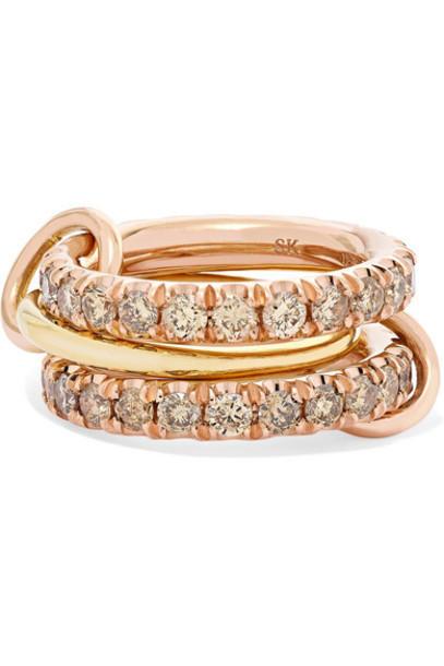 Spinelli Kilcollin - Set Of Three 18-karat Yellow And Rose Gold Diamond Rings