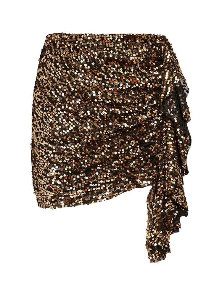 IN THE MOOD FOR LOVE Emely Sequined Skirt in gold