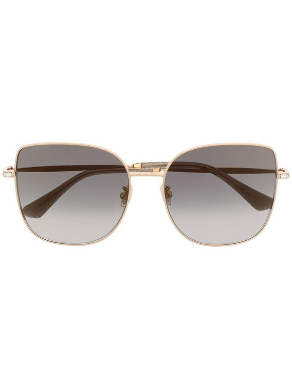 Jimmy Choo Eyewear oversized cat eye sunglasses in gold