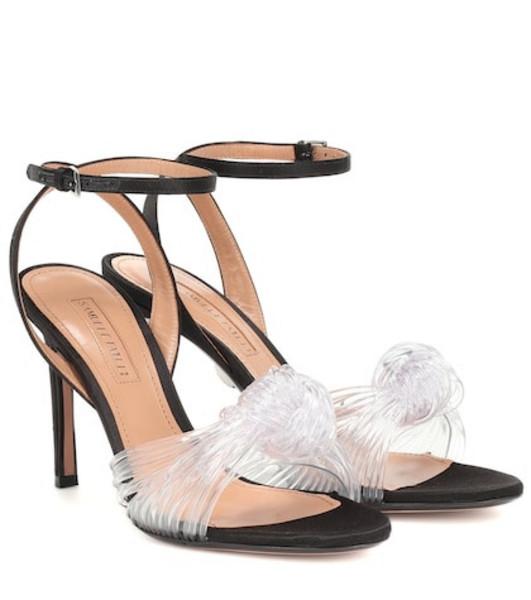 Samuele Failli Satin and PVC sandals in black