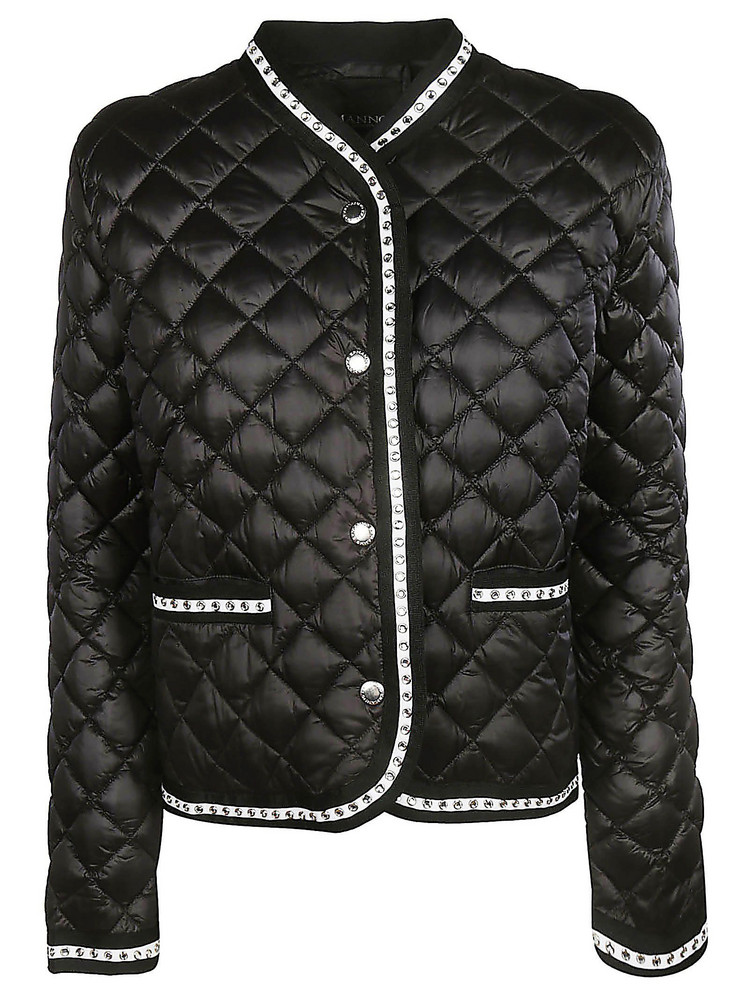 Ermanno Scervino Quilted Effect Jacket in black