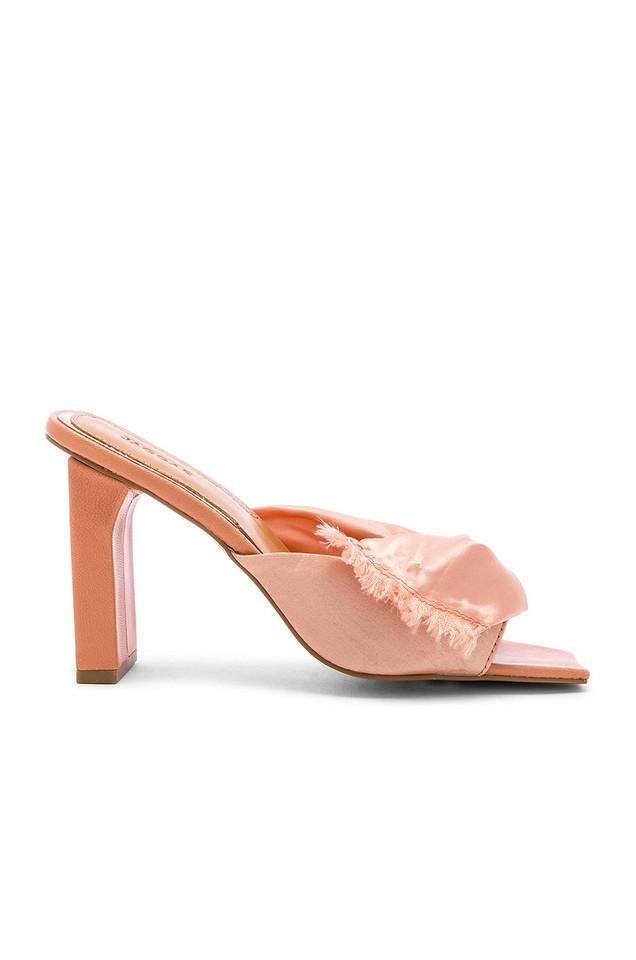 JAGGAR Knot Satin Heel in pink