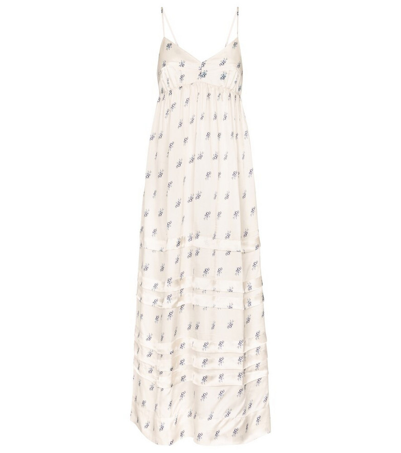Lee Mathews Greta floral maxi dress in white